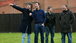 Arctic Monkeys outside their show at Glasgow's Carling Academy, 27 January 2006