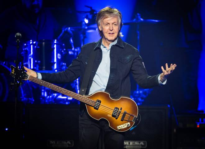 Paul McCartney performing at The O2 Arena in December 2018