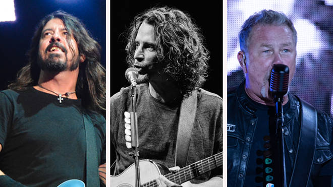 Foo Fighters' Dave Grohl, the late grunge icon Chris Cornell and Metallica's James Hetfield