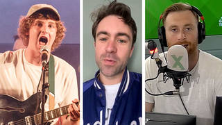 The Snuts frontman Jack Cochrane, The Vaccines frontman Justin Young and Radio X DJ Toby Tarrant