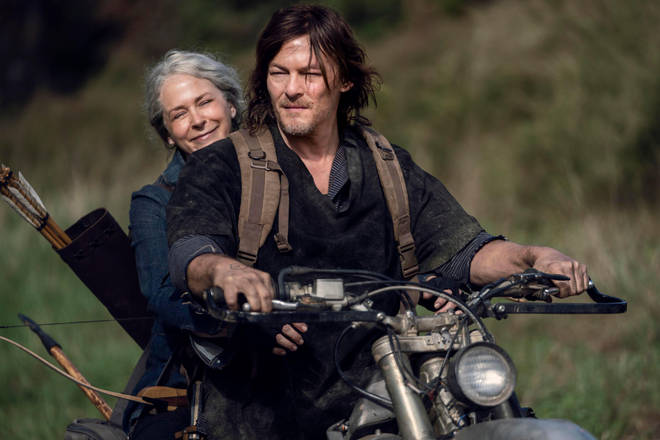 Norman Reedus as Daryl Dixon and Melissa McBride as Carol Peletier in The Walking Dead