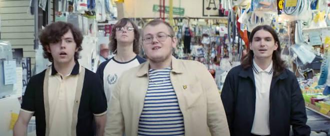The Lathums take a walk around Wigan Market, 3 July 2021