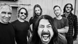 Foo Fighters in 2021: Pat Smear, Chris Shiflett, Taylor Hawkins, Dave Grohl Nate Mendel and Rami Jaffee.