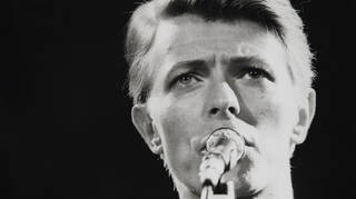 David Bowie performing in 1982