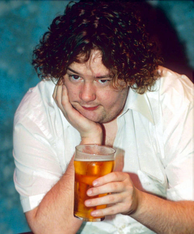 The early days of Johnny Vegas, on tour in 1998