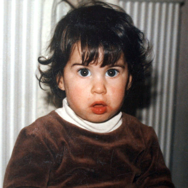 Amy Winehouse at the age of 2 in 1985