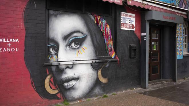 Amy Winehouse mural in East London