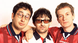 David Baddiel, Ian Broudie of The Lightning Seeds and Frank Skinner launch Three Lions in May 1996