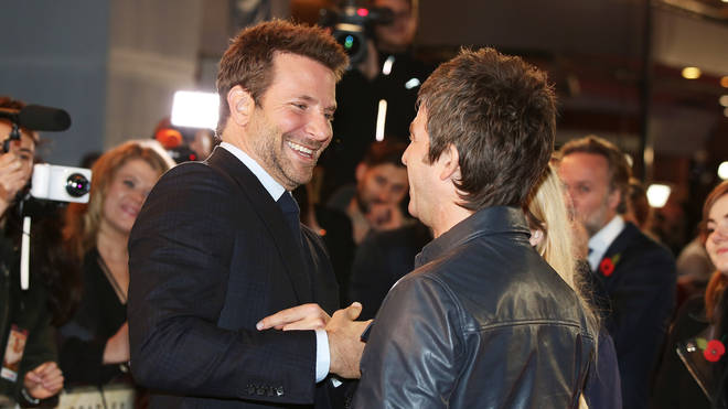 Bradley Cooper and Noel Gallagher at the UK premiere of Burnt in London in 2015