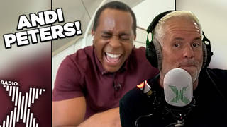 Andi Peters is back on The Chris Moyles Show