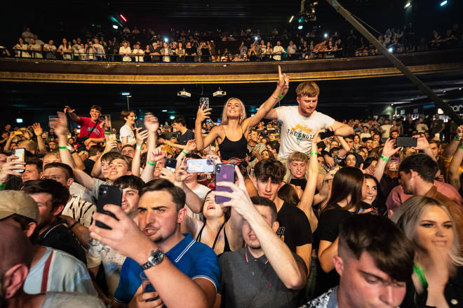 The crowd at the O2 Forum Kentish Town - glad to be back down the front