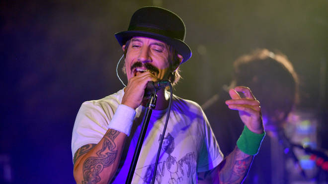 Anthony Kiedis performing with Red Hot Chili Peppers in Hollywood, October 2019