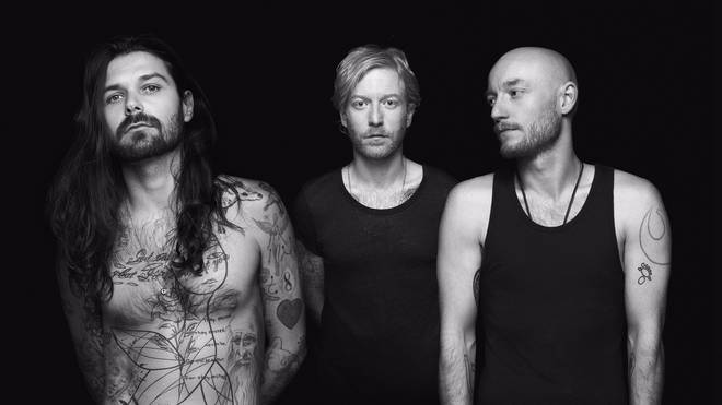 Biffy Clyro's Simon Neil, James Johnston and Ben Johnston