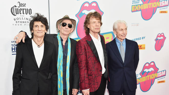 Ronnie Wood, Keith Richards, Mick Jagger and Charlie Watts of The Rolling Stones in 2016