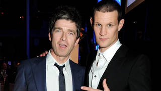 Noel Gallagher and Matt Smith on a night out in 2013