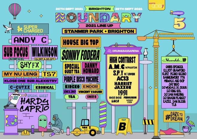 Boundary Brighton Festival line-up 2021