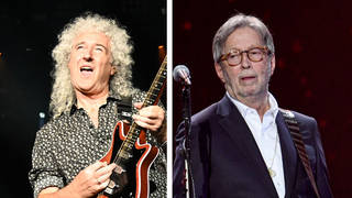 Brian May and Eric Clapton