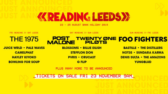 Reading and Leeds festivals 2019 poster