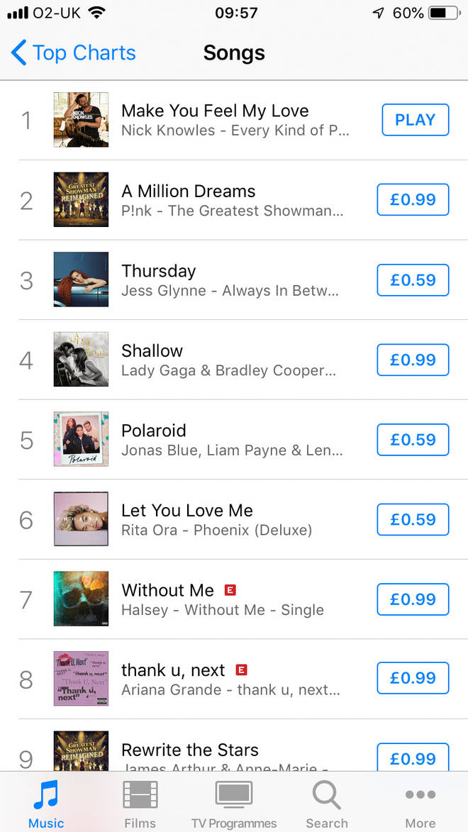 Nick Knowles tops the iTunes Charts with his cover of Bob Dylan's Make You Feel My Love