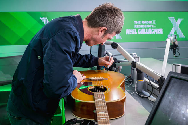 Noel Gallagher signed this very special guitar when he came into the Radio X studio recently