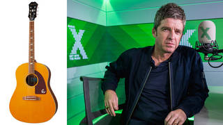 You can win this Epiphone Masterbilt Texan guitar, signed by Noel Gallagher!