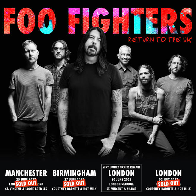 Foo Fighters announce UK dates for 2022