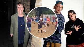 Kathy Burke praises Kevin and Perry lookalikes at Hardwick Live