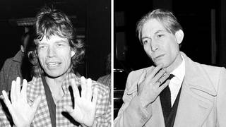 The Rolling Stones' Mick Jagger and the late Charlie Watts