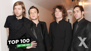 The Killers in January 2005: Mark Stoermer, Brandon Flowers, Dave Keuning, and Ronnie Vannucci Jr.