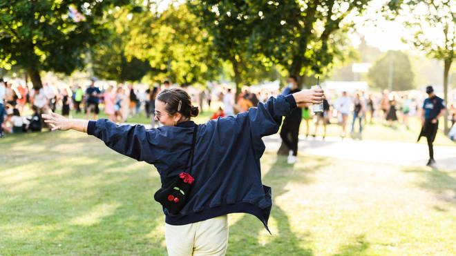 Festival-goers at All Points East 2021