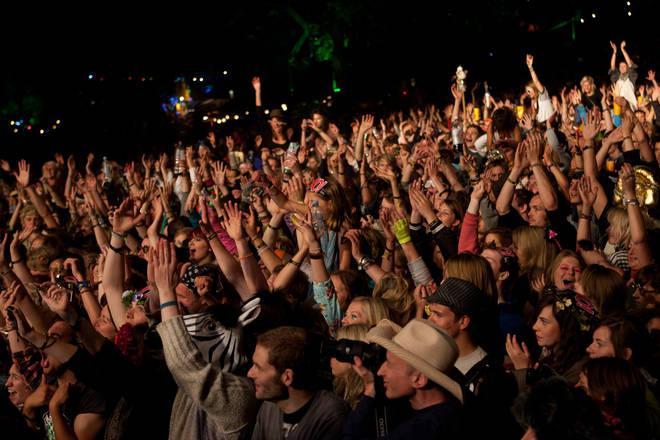 Crowds watch Marina & The Diamonds at Secret Garden Party 2021
