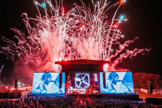 Fireworks at Biffy Clyro's set at Leeds Festival 2021