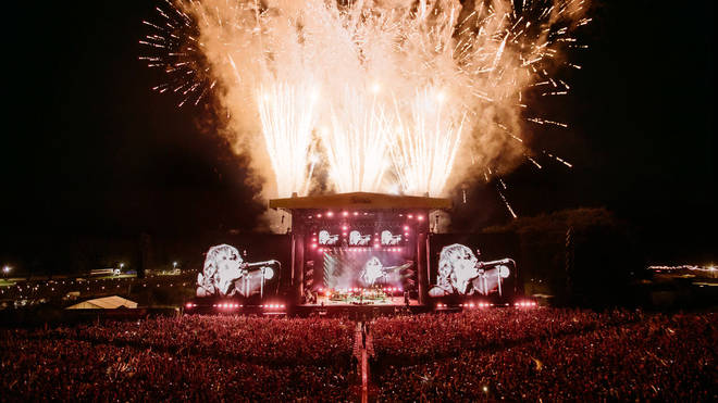 Fireworks for Liam Gallagher at Leeds Festival 2021