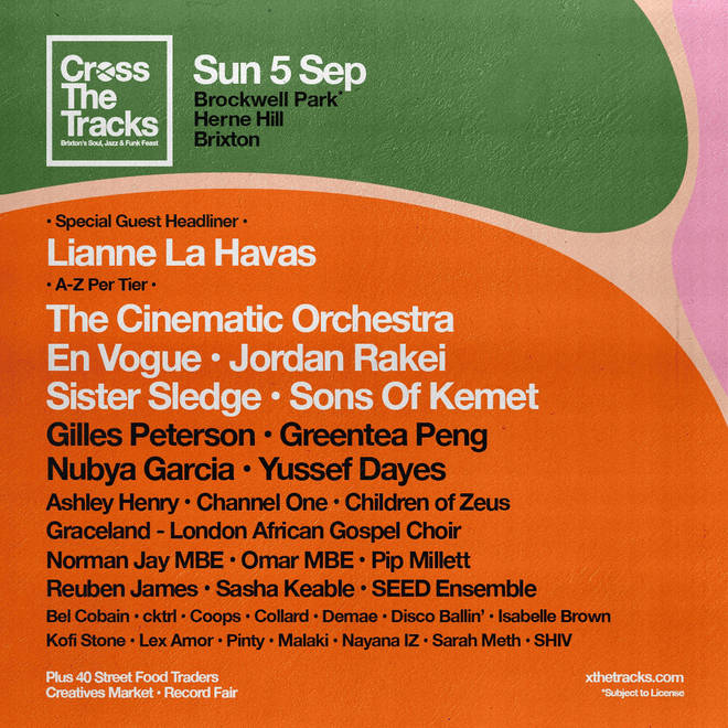 Cross The Tracks line-up