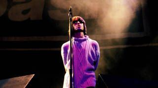 Oasis frontman Liam Gallagher at Knebworth