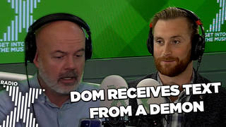 Dom receives a text from a demon