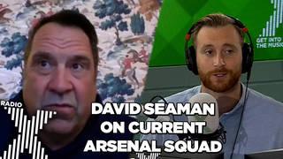 David Seaman reacts to Arsenal's performance