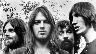 Pink Floyd at the time of recording the classic Dark Side Of The Moon album in 1973: Rick Wright, Dave Gilmour, Nick Mason and Roger Waters