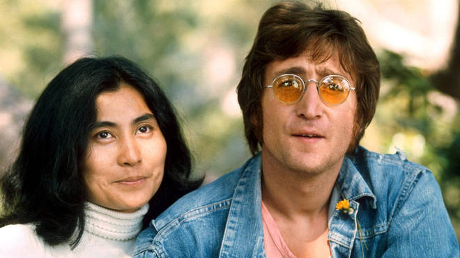 Yoko Ono and John Lennon at the time of the release of the Imagine album, 1971