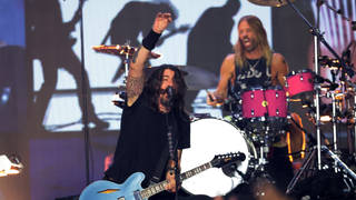 Foo Fighters performing onstage during the 2021 MTV Video Music Awards. (Photo by Mike Coppola/Getty Images for MTV/ViacomCBS)