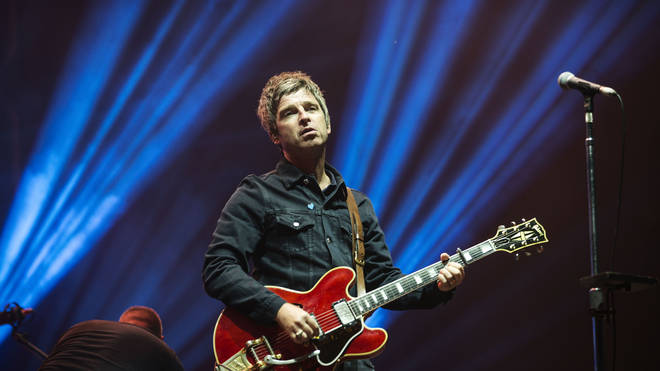Noel Gallagher performing at Bellahouston Park, Glasgow with Noel Gallagher's High Flying Birds, 2016. (Photo by Ross Gilmore/Redferns)