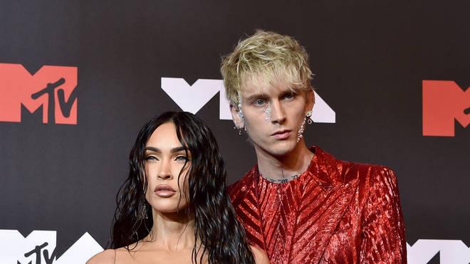 Megan Fox and Machine Gun Kelly at the 2021 MTV Video Music Awards - Arrivals