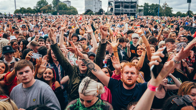 The crowd at TRNSMT Festival's mainstage.
