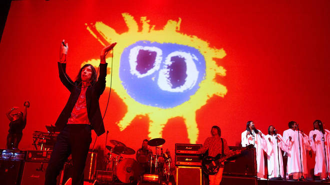 Primal Scream perform their classic 1991 album 'Screamadelica' live at the O2 Brixton Academy on the 25th March 2011. Credit: Phil Bourne/Redferns via Getty Images.
