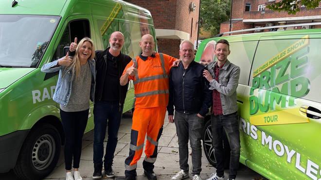 Pippa, Dom, winner Darren, Chris Moyles and James