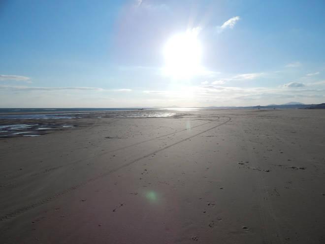 The beach at Black Rock Sands near Porthmadog, North Wales