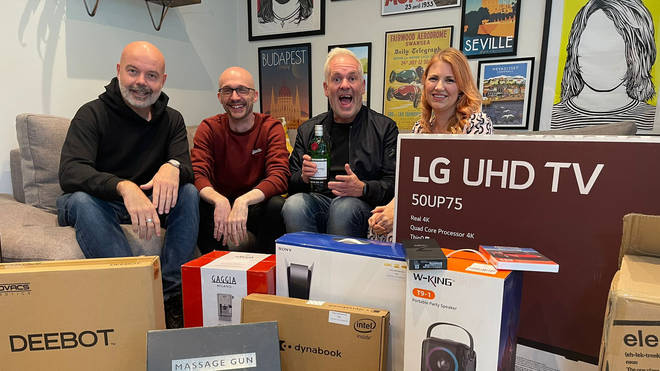 Ross and Kate enjoy Chris and Dom dumping prizes on his doorstep in Crowborough
