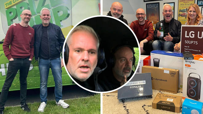 Chris Moyles and Dom head to winner Ross in West Sussex