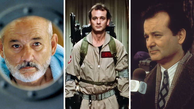 Three of Bill Murray's best roles: The Life Aquatic With Steve Zissou, Ghostbusters and Groundhog Day