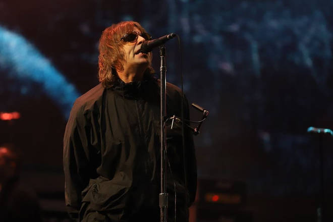Liam Gallagher headlining the Isle Of Wight Festival 2021.